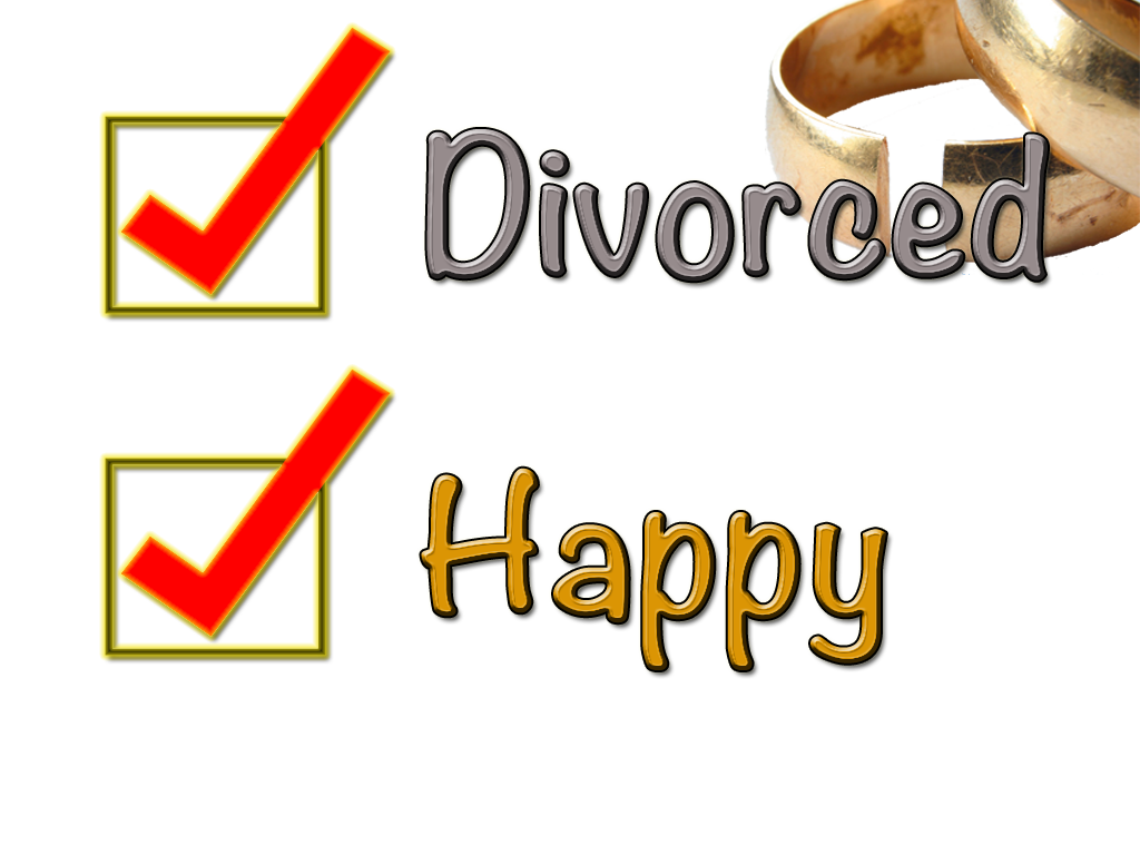 happy divorced writing with hope