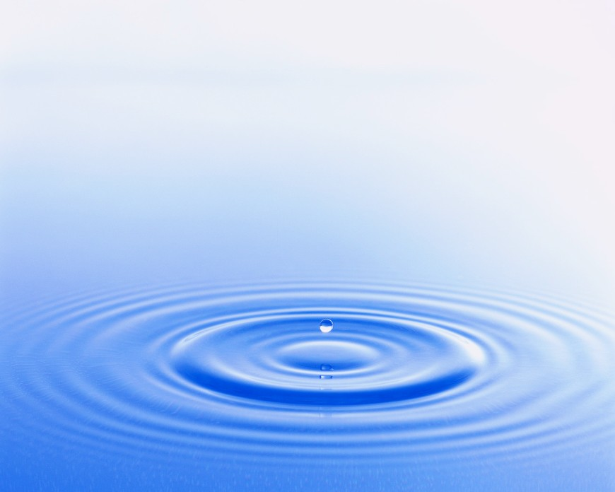 Drop of Water Creating Ripples