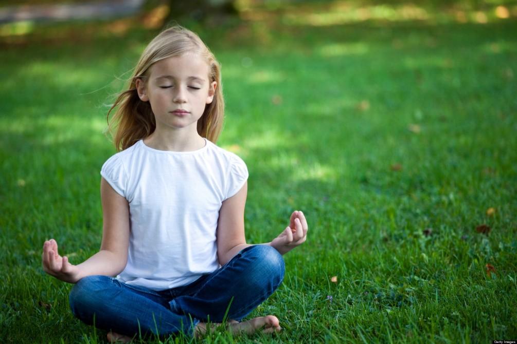 meditating kid istock