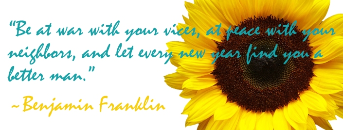 Benjamin Franklin New Year Quote